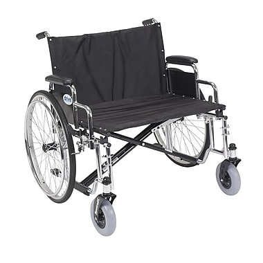 Drive Medical Sentra EC Heavy Duty Extra Wide Wheelchair, Detachable Desk Arms, 28