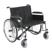 """Drive Medical Sentra EC Heavy Duty Extra Wide Wheelchair, Detachable Full Arms, 28"""" Seat"""
