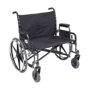 "Drive Medical Sentra Extra Wide Heavy Duty Wheelchair, Detachable Desk Arms, 30"" Seat"