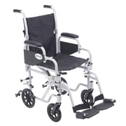 Drive Medical Poly Fly Transport Chair with Swing away Footrest, 16 Seat Size