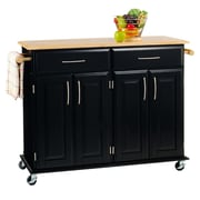 Home Styles 35.5 Sustainable Hardwood Kitchen Island Cart