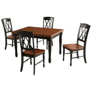 Home Styles Monarch Rectangular Dining Table and 4 Double X-Back Chair