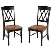 Home Styles Monarch Double X-Back Hardwood Solids Dining Chairs