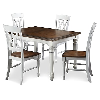 Home Styles Double X Back Chairs Dining Table