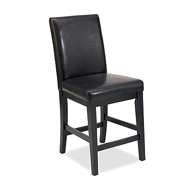 Home Styles Nantucket Leather Wood Bar Stool