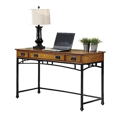 Home Styles Modern Craftsman Executive Desk, Distressed Oak (5050-15)