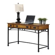 Home Styles Modern Craftsman Executive Desk, Distressed Oak (5050-15)