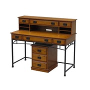 "Home Styles 42"" Poplar Solids with Oak Veneers Modern Craftsman Executive Desk"