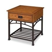"""Home Styles 24"""" Poplar Solid & Oak Veneers End Table"""