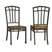 Home Styles Oak Hill Distressed Metal Dining Chairs