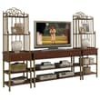 Home Styles St Ives 3-Piece Media TV Entertainment Center Metal Storage