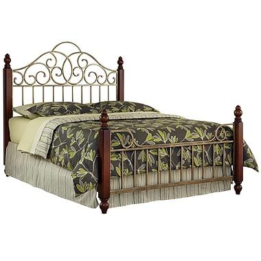 Home Styles Queen Poplar Solids, Cherry Veneers & Metal Bed