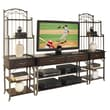 Home Styles 72in. Poplar Solids 3 Piece Media TV Entertainment Center, Espresso Finish