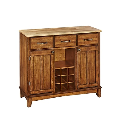 Home Styles Large Asian Hardwood Buffet Server