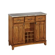 """Home Styles 36.25"""" Asian Hardwood and Stainless Steel Buffet"""