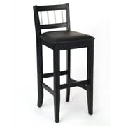 Home Styles Manhattan Bar with Stainless Steel Accents Solid Asian Hardwood Stool