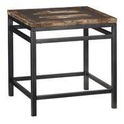 "Home Styles 23.75"" Metal, Tile & Wood Turn to Stone Petrified End Table"