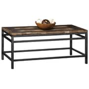 "Home Styles 19.75"" Powder Coated Metal Frame & Petrified Wood Cocktail Table"