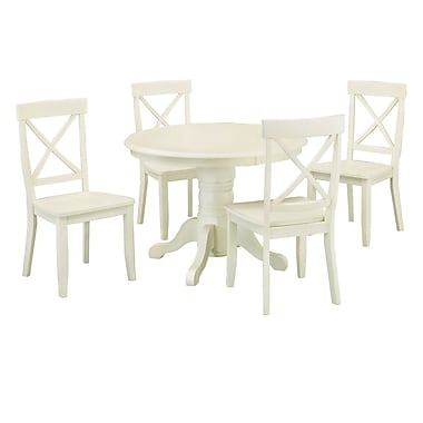 Home Styles 5 Piece Dining Set Antique White Finish