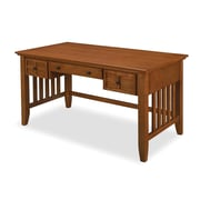 Home Styles Arts & Crafts Executive Desk, Cottage Oak (5180-15)