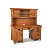 Home Styles 63.5 Solid Hardwood Double Pedestal Desk and Hutch