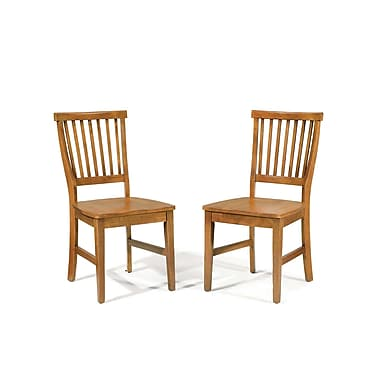 Home Styles Arts and Crafts Solid Hardwood Side Chair 2/Set