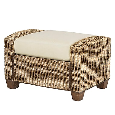 Home Styles Cabana Banana Hardwood Bench Ottoman, Honey Finish