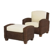 Home Styles Cabana Banana Mahogany Hardwood Chair & Ottoman