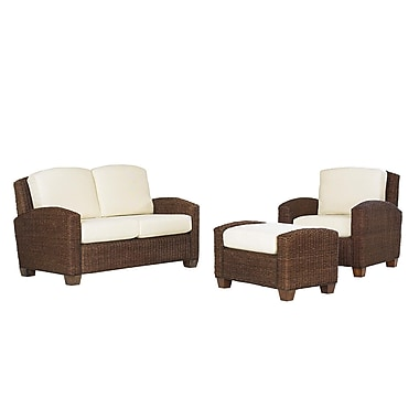 Home Styles Cabana Banana Mahogany Hardwoods and Woven Banana Leaves Chair
