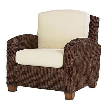 Home Styles Cabana Banana Mahogany Hardwood Wicker Chair
