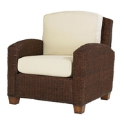 Home Styles Cabana Banana Mahogany Hardwood Wicker Chair