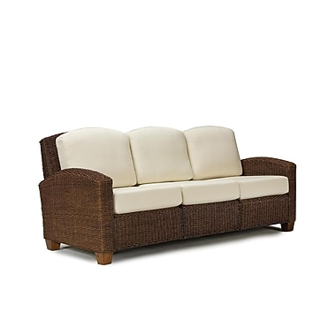 Home Styles Cabana Banana 3 Seat Sofa, Cocoa Finish