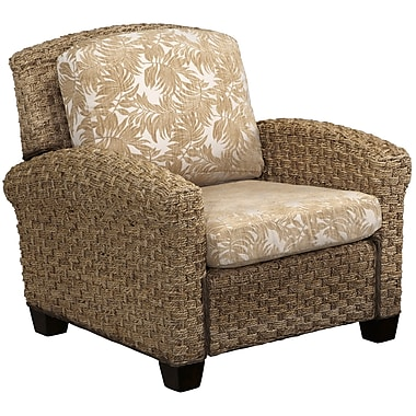 Home Styles Cabana Banana II Fabric Mahogany Wood Chair