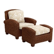 Home Styles Cabana II Banana Leaves Chair & Ottoman Sets