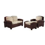 Home Styles Cabana Banana II Chair, Ottoman, and Love Seat Banana Leaves