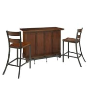 Home Styles Cabin Creek Mahogany Solids & Veneers Bar & 2 Stools