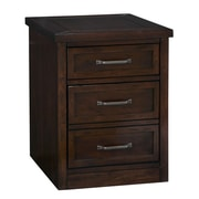 "Home Styles 23"" Poplar Solids and Mahogany Veneers Mobile File Cabinet"