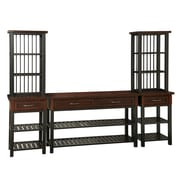 Home Styles Poplar Solids and Mahogany Veneers Cabin Creek 3-Piece Entertainment Center