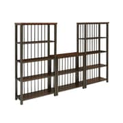 Home Styles Cabin Creek 3-Piece Mahogany, Metal, Reclaimed Wood, Veneer, Wood Shelving Unit