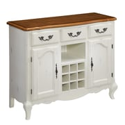 Home Styles 36 Hardwood Solids & Engineered Wood French Countryside Buffet