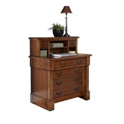 Home Styles Poplar Solids & Cherry Veneers Expanding Desk With Hutch