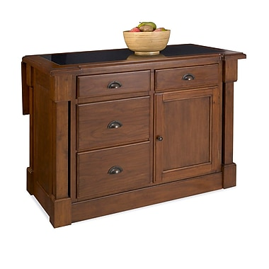 Home Styles Mahogany Solids and Cherry Veneers Kitchen Island with Drop Leaf