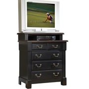 Home Styles Aspen Collection Media Chest Wood & Metal Standard chest ,Black