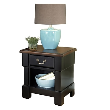 Home Styles Mahogany Night Stand, Rustic Cherry/Black