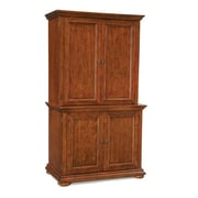 Home Styles Homestead Compact Office Poplar Solid Hardwood Cabinet and Hutch