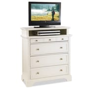 Home Styles Naples TV Media Chest with Drawer, White Wood TV Media Chest