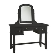 Home Styles 57 Wood Bedford Vanity Table Black