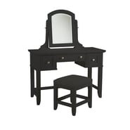Home Styles Bedford Hardwood Solids & Engineered Woods Vanity Table and Bench