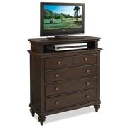 Home Styles Bermuda TV Brass, Mahogany, Veneer, Wood Media Chest
