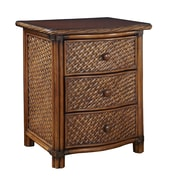 "Home Styles 24.75"" Leather, Metal, Rattan, Veneer, Wicker Night Stand"